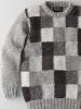 英国製ボックスチェックセーター