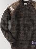 英国製ワッフル丸首セーター
