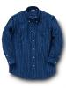 綿フラノ縞柄シャツ